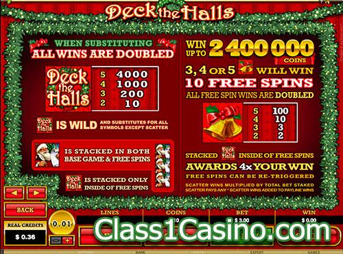 เกมส์สล็อต Deck The Halls Slot โบนัสเกม